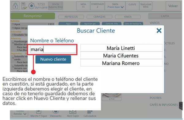 Asociar la comanda a un cliente 2